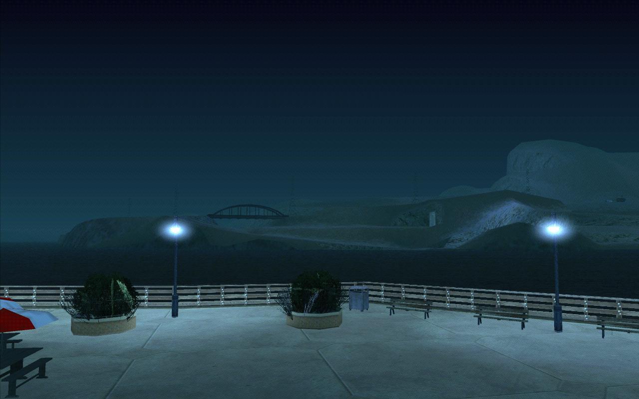 Вид на пустыню с пирса 69. - Grand Theft Auto: San Andreas