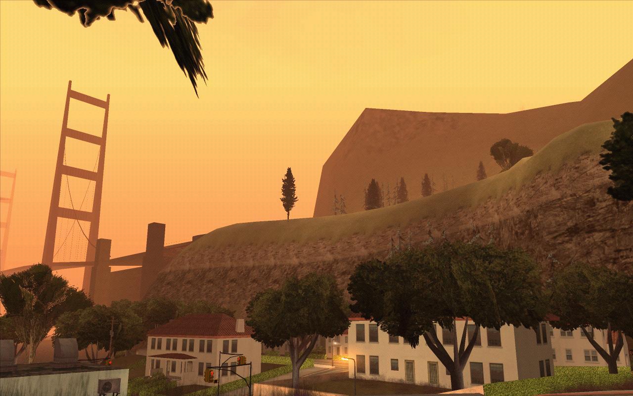 Гора и мост. - Grand Theft Auto: San Andreas