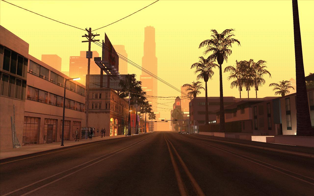 Утро в Сантосе. - Grand Theft Auto: San Andreas