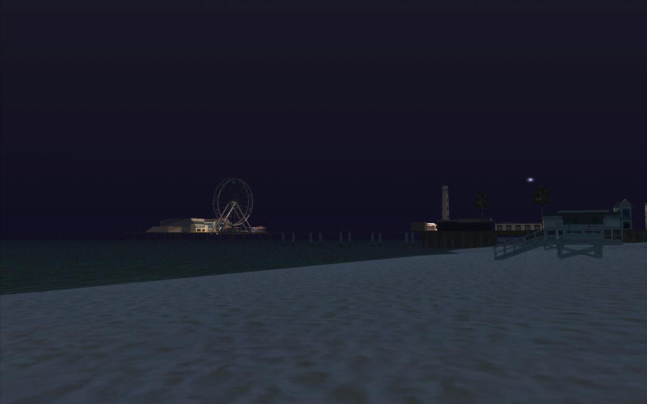 Аттракционы Сантоса ночью. - Grand Theft Auto: San Andreas