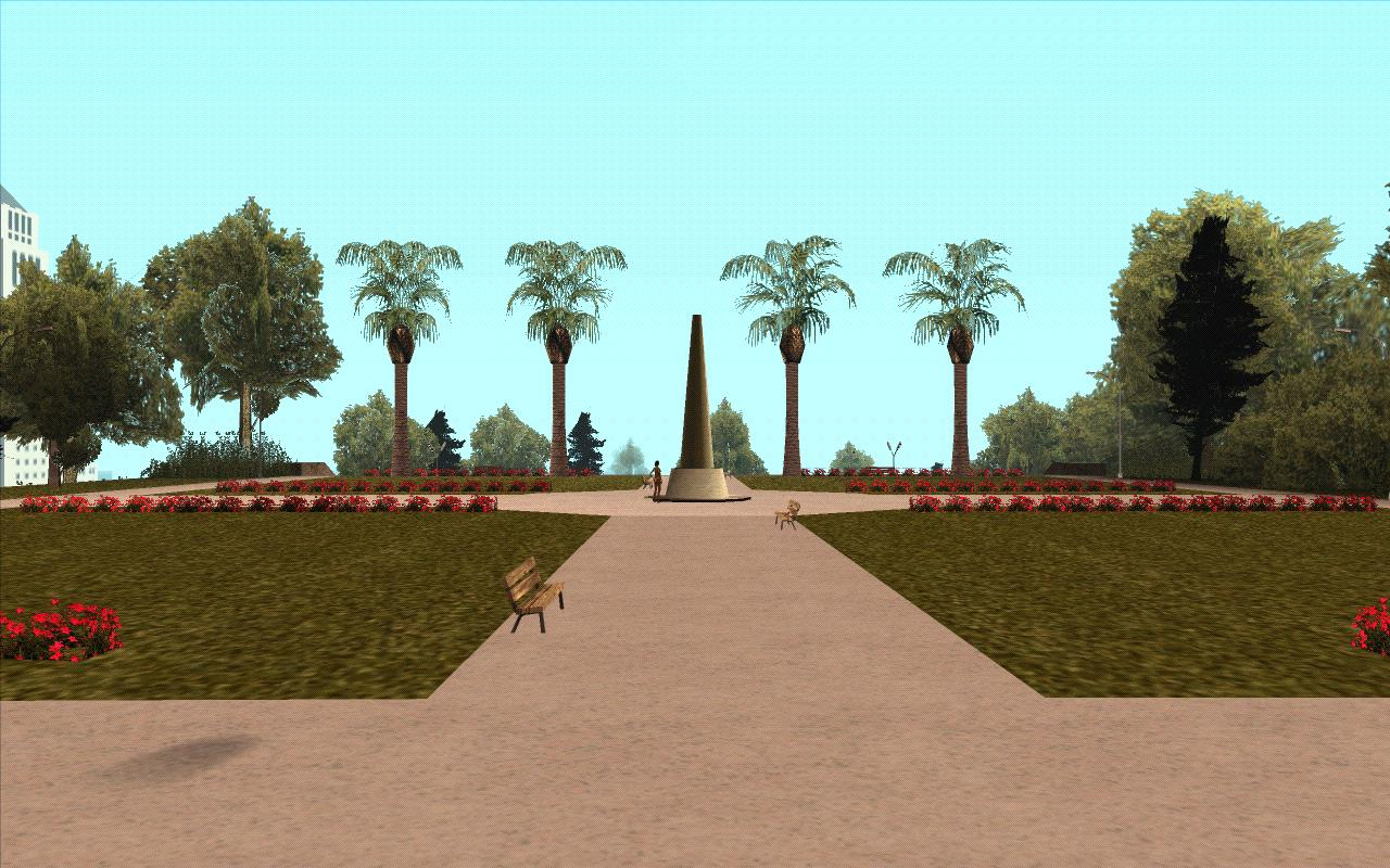 Плошадь перед обсерваторией. - Grand Theft Auto: San Andreas