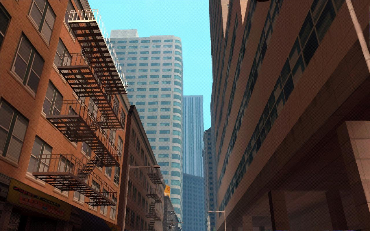 Улица с небоскребами. Красиво. - Grand Theft Auto: San Andreas