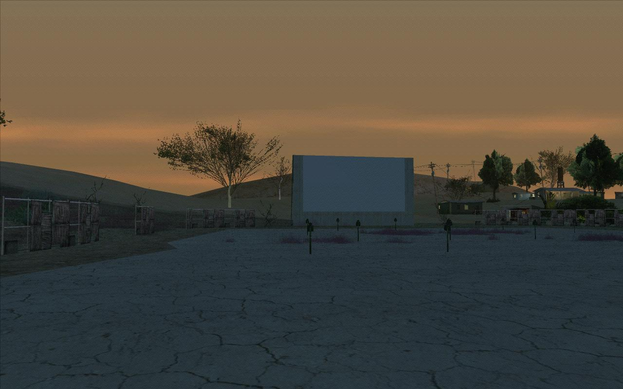 Конотеатр в пустыне - Grand Theft Auto: San Andreas