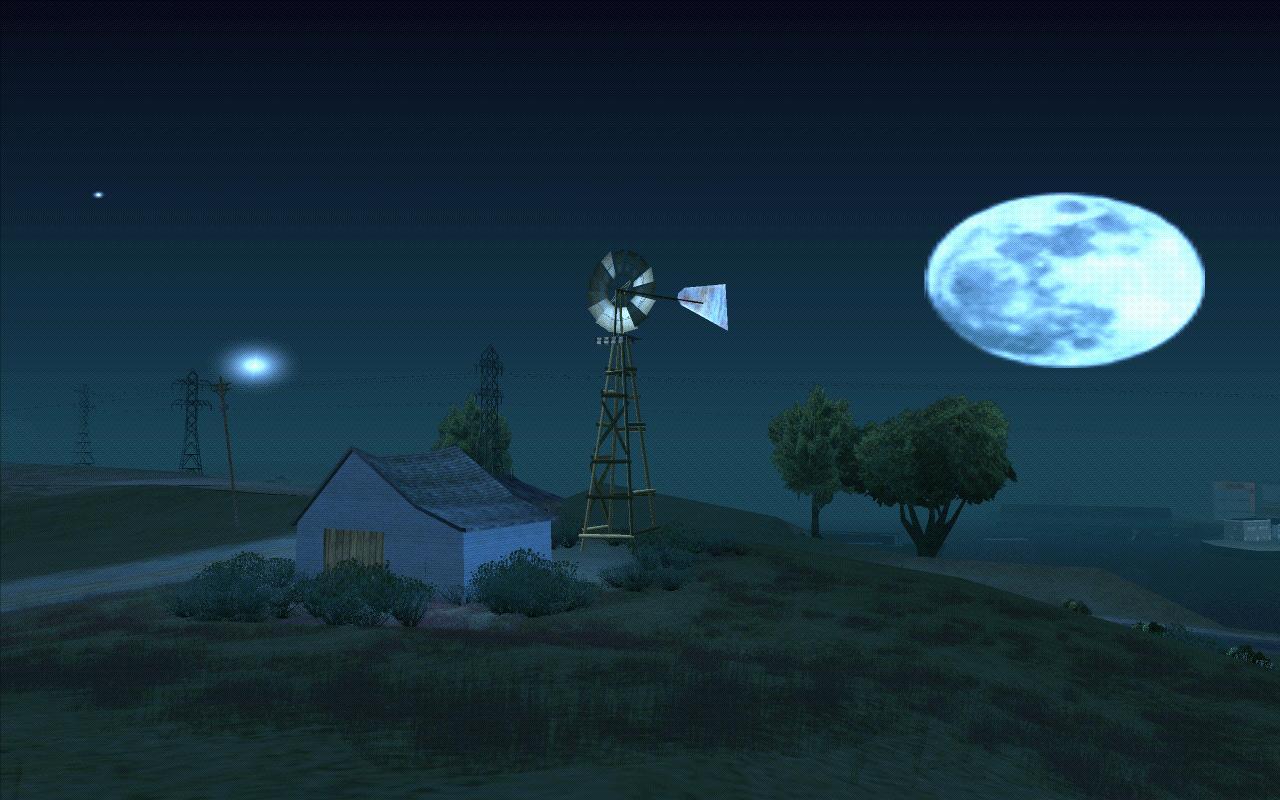 Ночь над фермой - Grand Theft Auto: San Andreas