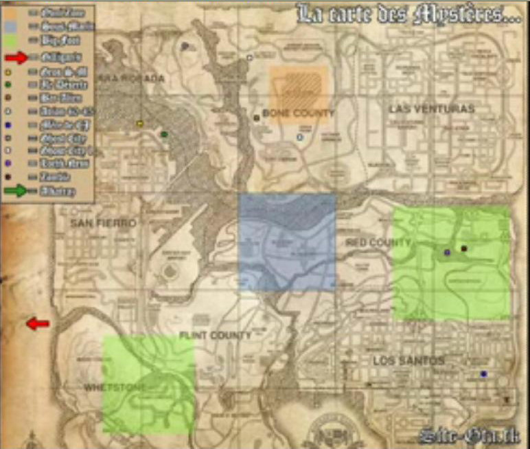 Map - Grand Theft Auto: San Andreas