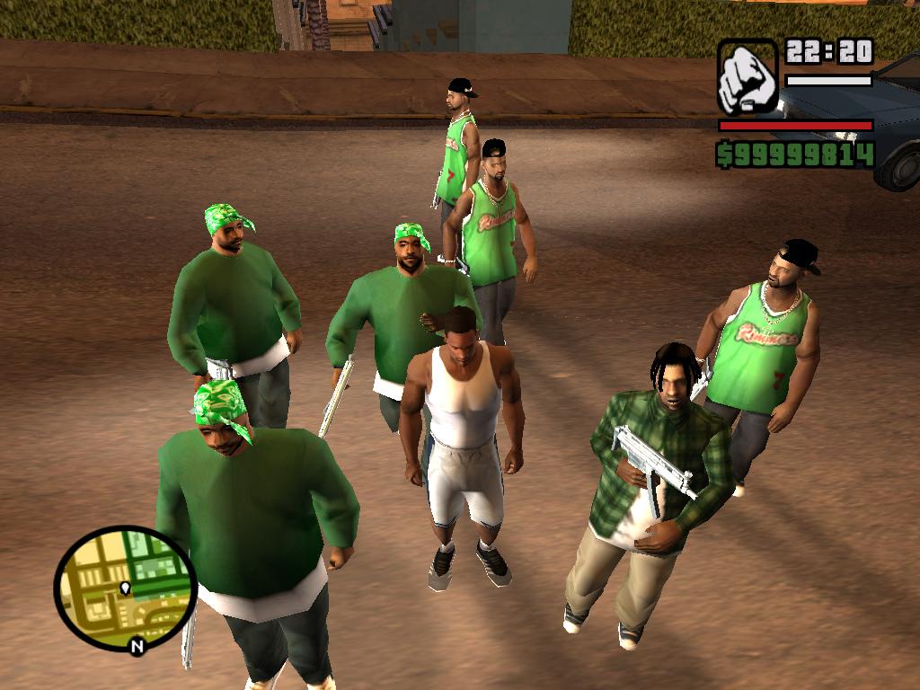 И все с автоматами - Grand Theft Auto: San Andreas