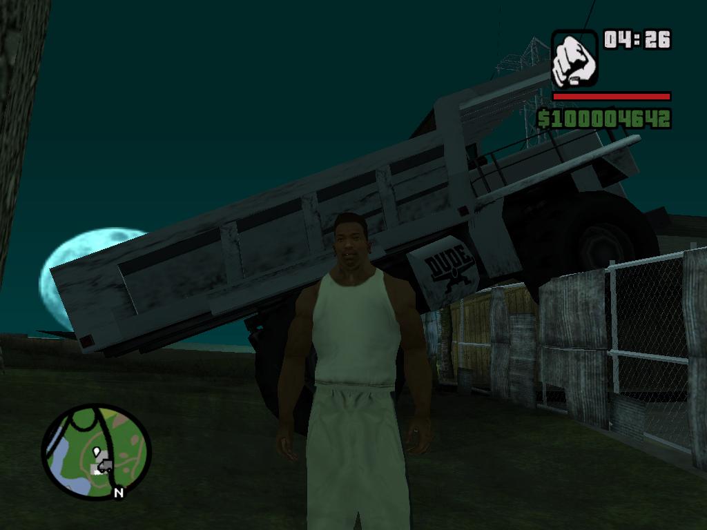 Интересно, как забор его выдержал - Grand Theft Auto: San Andreas