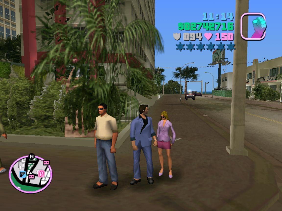Дура! Че в очередь встала? Я с другом разговариваю! - Grand Theft Auto: Vice City