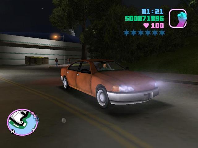 Курума, такая Курума... Откуда она взялась в Вайсе, понятия не имею... - Grand Theft Auto: Vice City