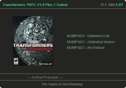 скачать трейнер на Transformers War For Cybertron - фото 8