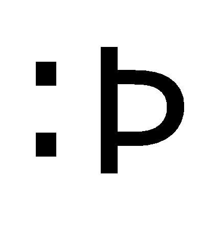 :P - -