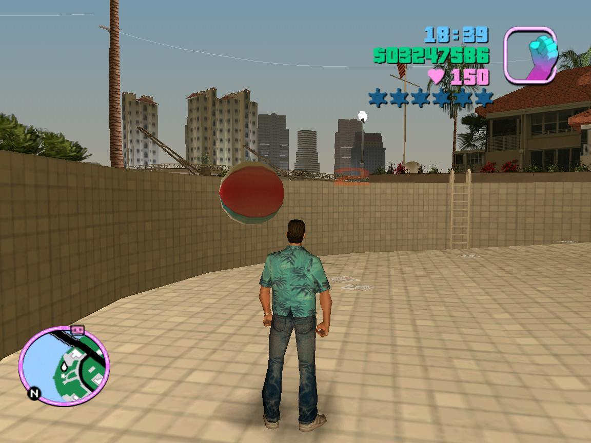 Очки за набивание мячика головой и ногами - Grand Theft Auto: Vice City