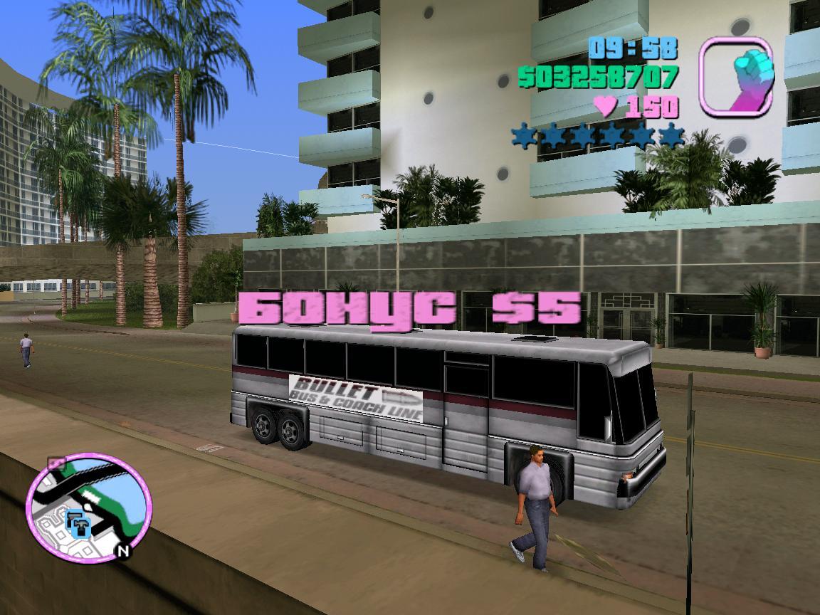 Подработка на автобусе - Grand Theft Auto: Vice City