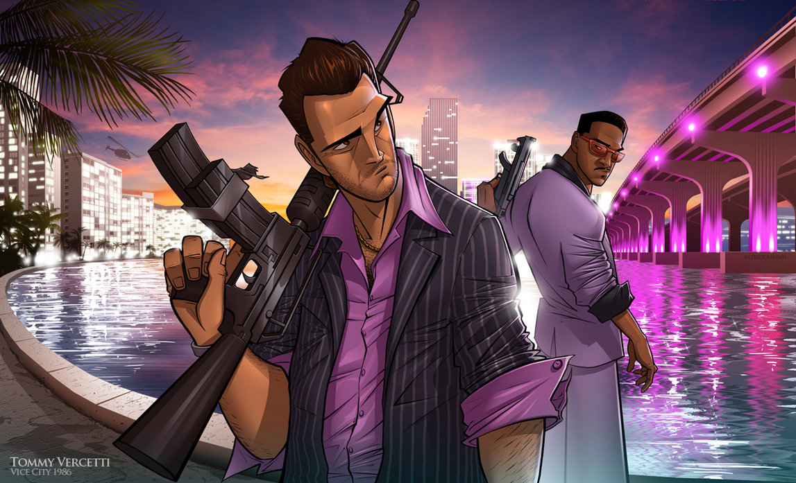 Vice City [Работа Патрика Брауна] - Grand Theft Auto: Vice City Арт, Патрик Браун