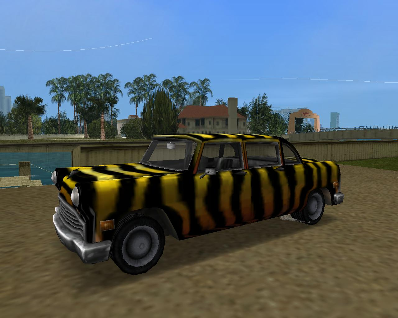 NE Zebra Cab - Grand Theft Auto: Vice City
