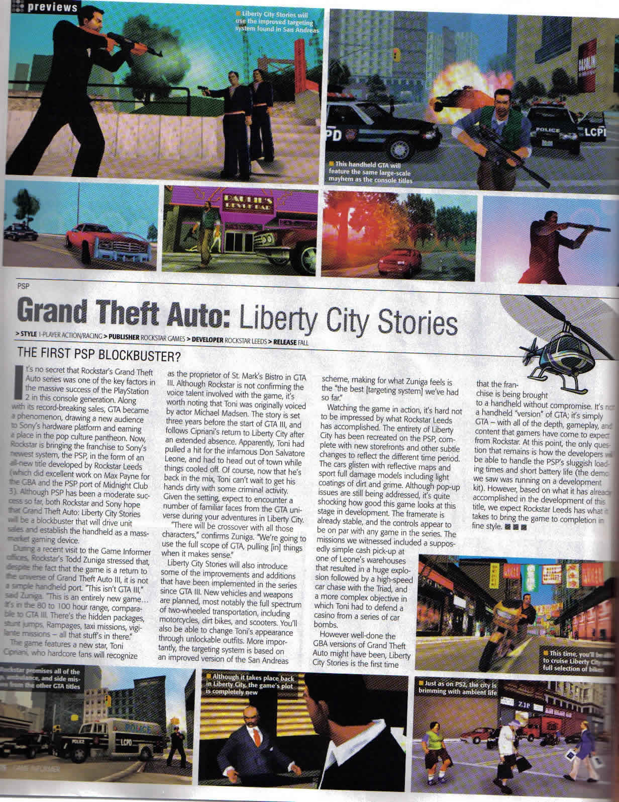 Статья про LCS - Grand Theft Auto: Liberty City Stories