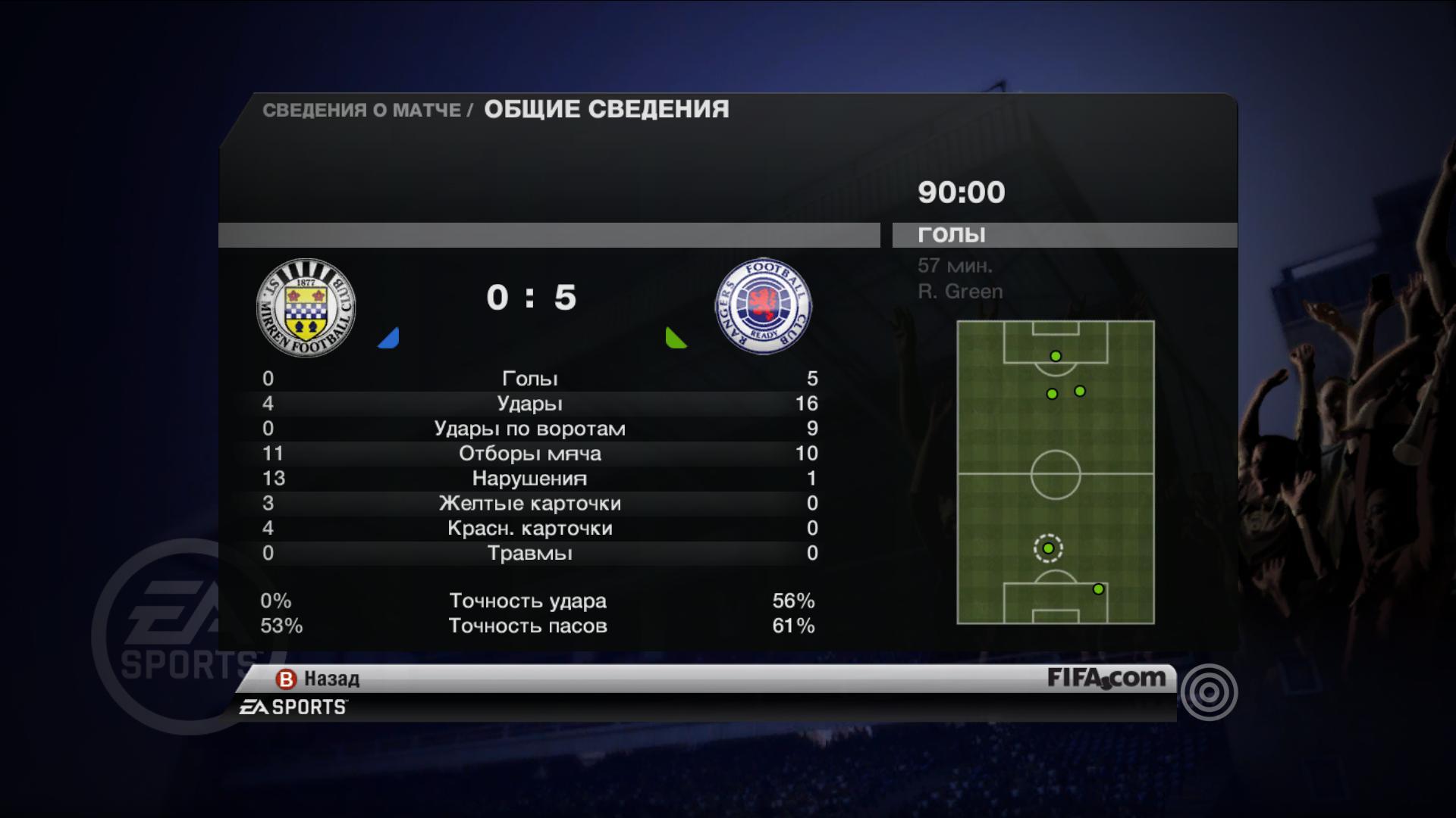 Перебор красных - FIFA 11