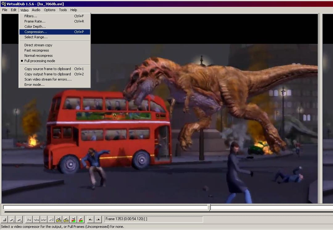 VirtualDub - как сжимать видео (опция) - - VirtualDub, видео