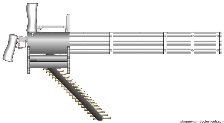 """M134 Minigun - - M134 """"Pimp My Gun"""" Version"""