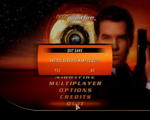 Главное меню - James Bond 007: Nightfire