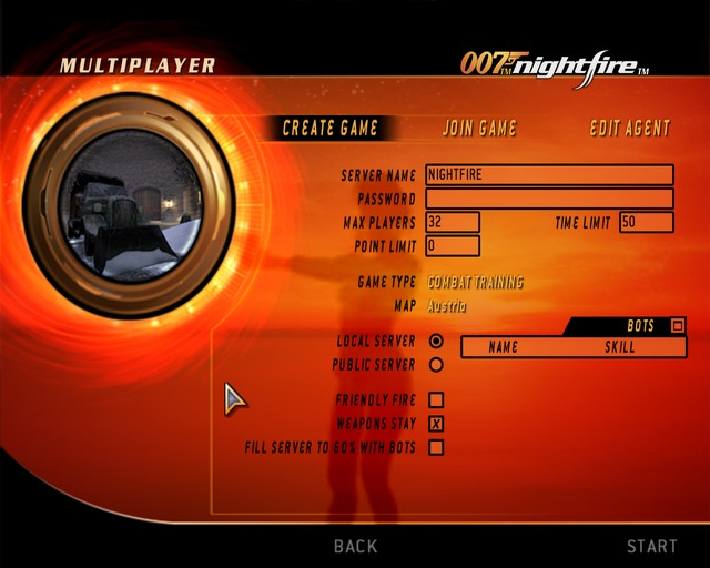 Создание сервера - James Bond 007: Nightfire