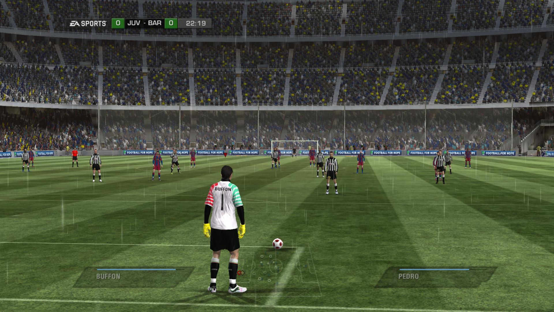 Keep Gloves Puma V1.10 (Gianliigi Buffon) (02) - FIFA 11 Сзади