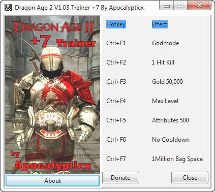 скачать трейнер для Dragon Age - фото 8
