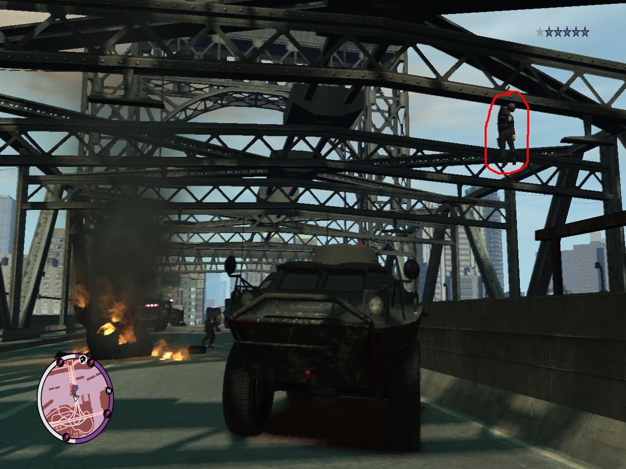 Коп повис - Grand Theft Auto 4