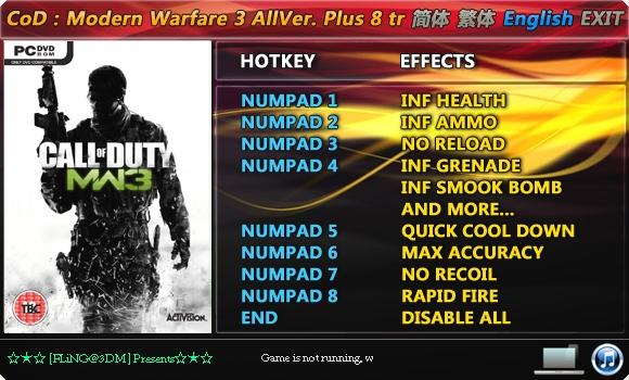 Скачать Трейнер Call Of Duty 3 Modern Warfare