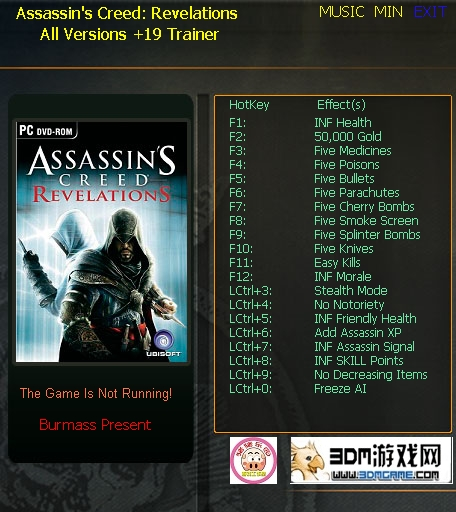 Assassin's Creed - Revelations: Трейнер/Trainer (+19) [All Versions: 1.0/1.01 & Others]