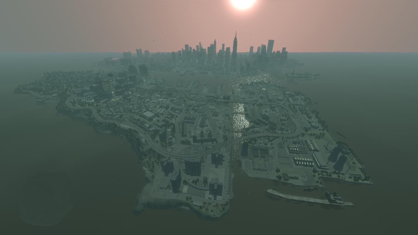 Вид на город - Grand Theft Auto 4 gta4 GTA4 Gta 4