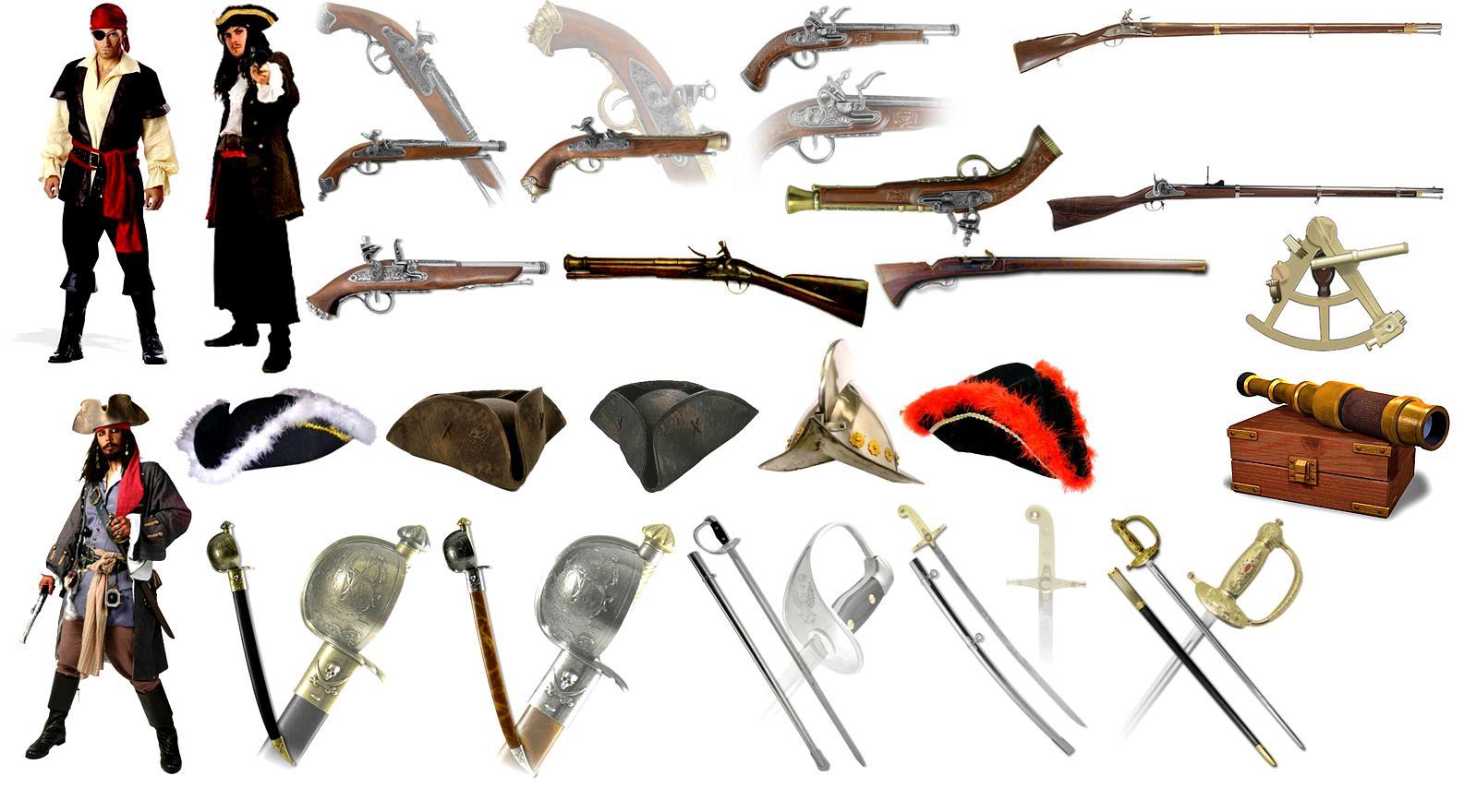 образцы пиратских предметов - White Gold: War in Paradise пиратские предметы