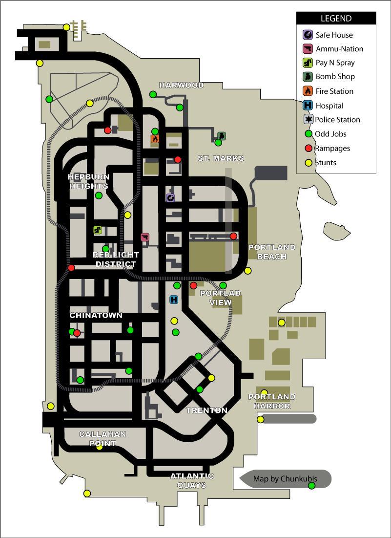 4. Portland Odd Jobs, Rampages, Stunts.jpg - Grand Theft Auto: Liberty City Stories