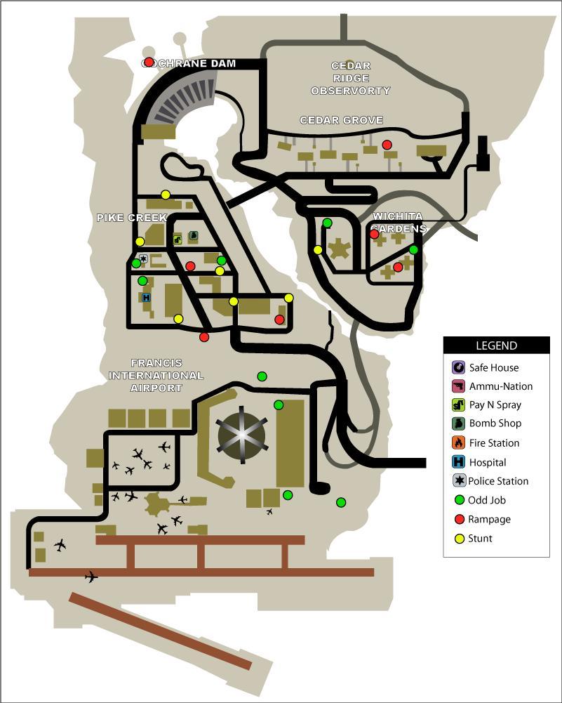 6. Shoreside Vale Odd Jobs, Rampages, Stunts.jpg - Grand Theft Auto: Liberty City Stories