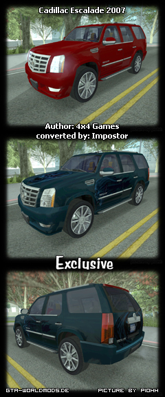 Cadillac Escalade 2007 - Grand Theft Auto: San Andreas escalade