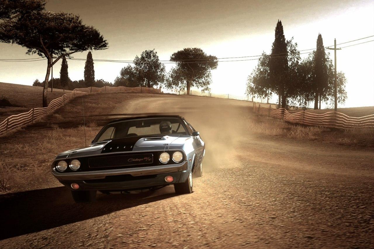 Dodge Challenger вечером в Тоскане - Gran Turismo 5 challenger
