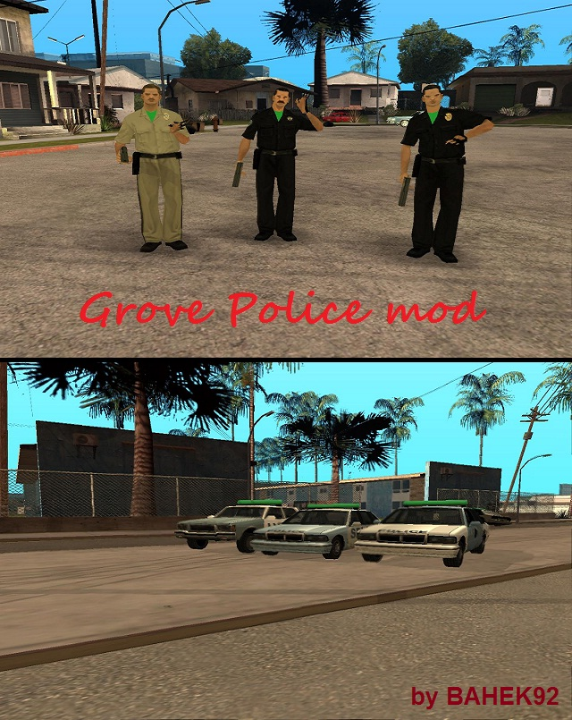 Grove Police mod - Grand Theft Auto: San Andreas