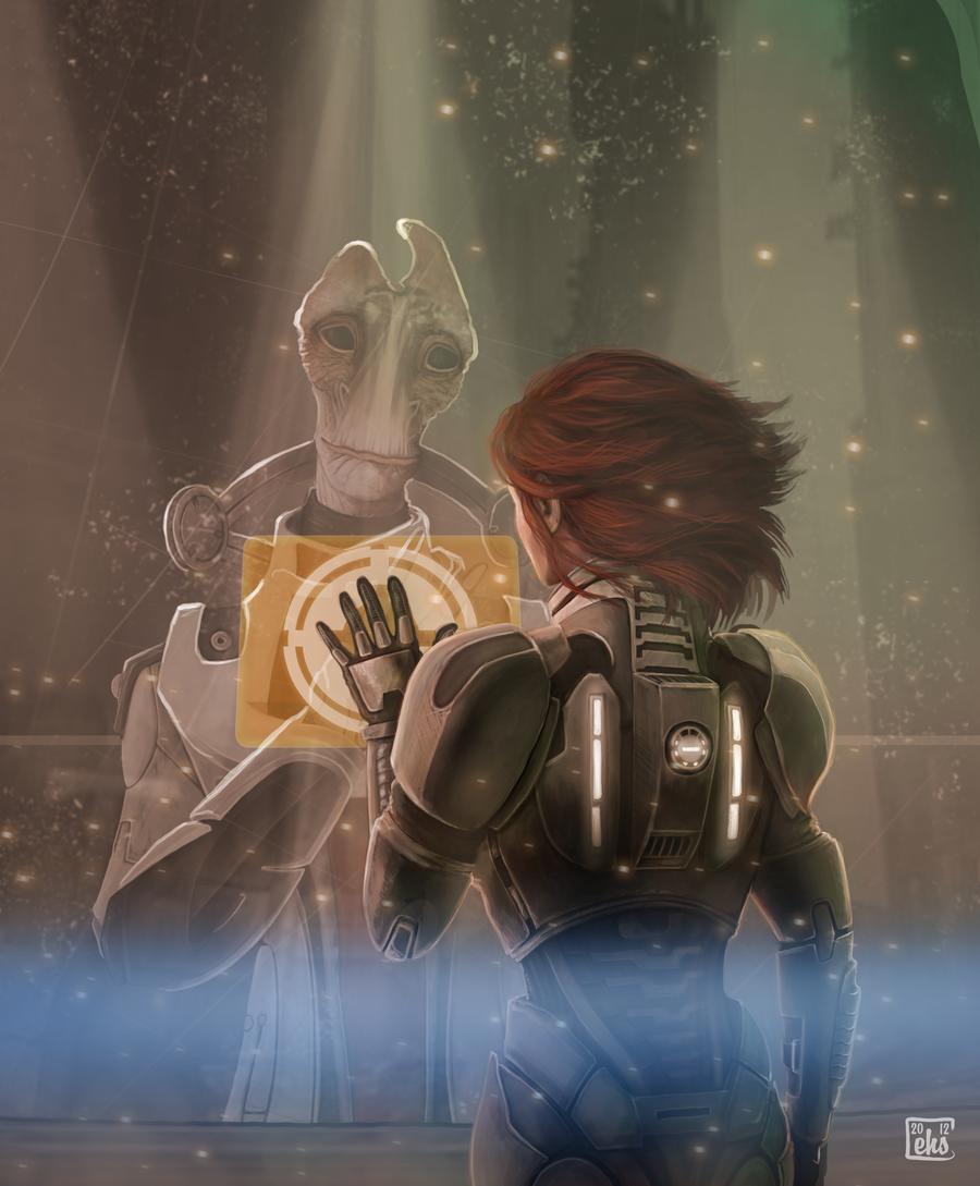 Tell them...I held the line… - Mass Effect 3 Джейн, Мордин
