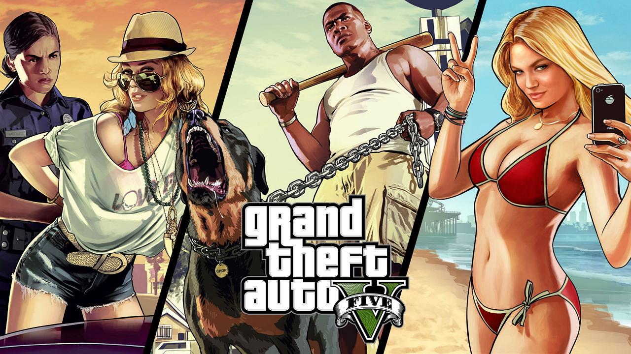 GTA5 - Grand Theft Auto 5 GТA5, арт, протагонист, собака