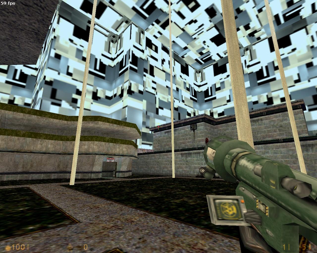 баг после замены текстуры неба - Half-Life