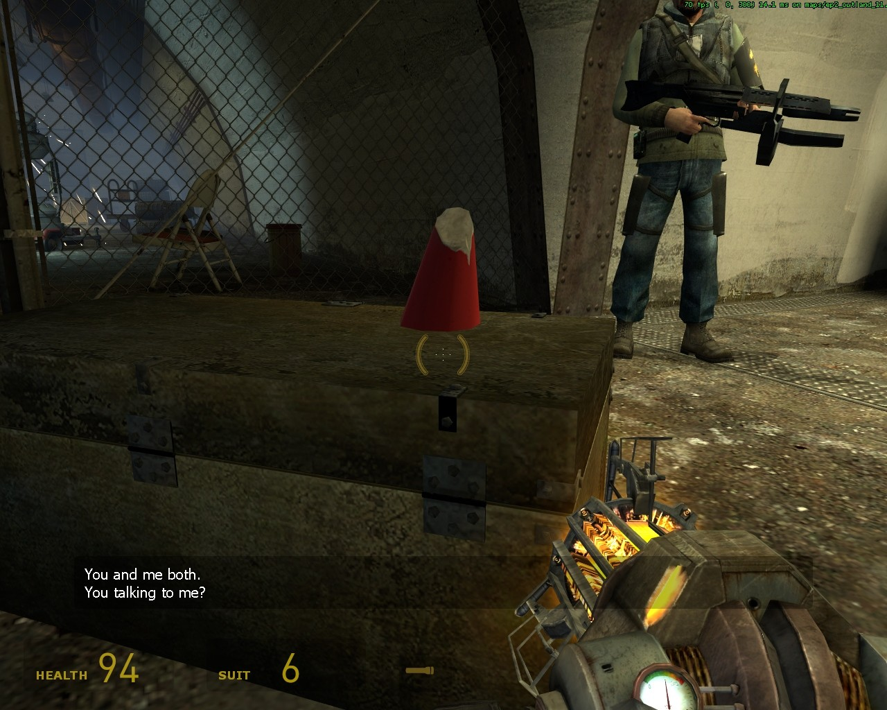 Гном спрятался (получено заменой модели) - Half-Life 2
