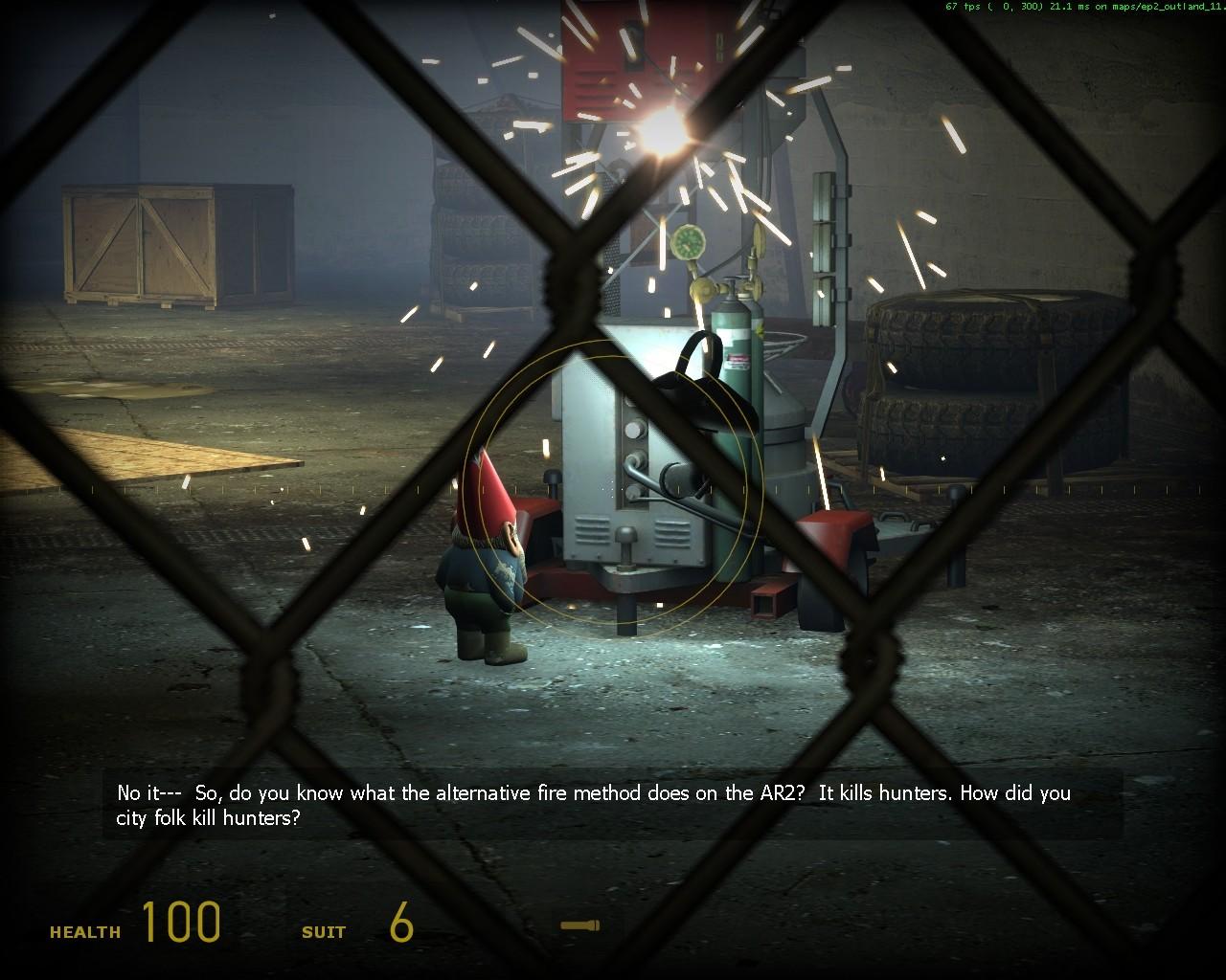 Гном-сварщик явно владеет телекинезом - Half-Life 2