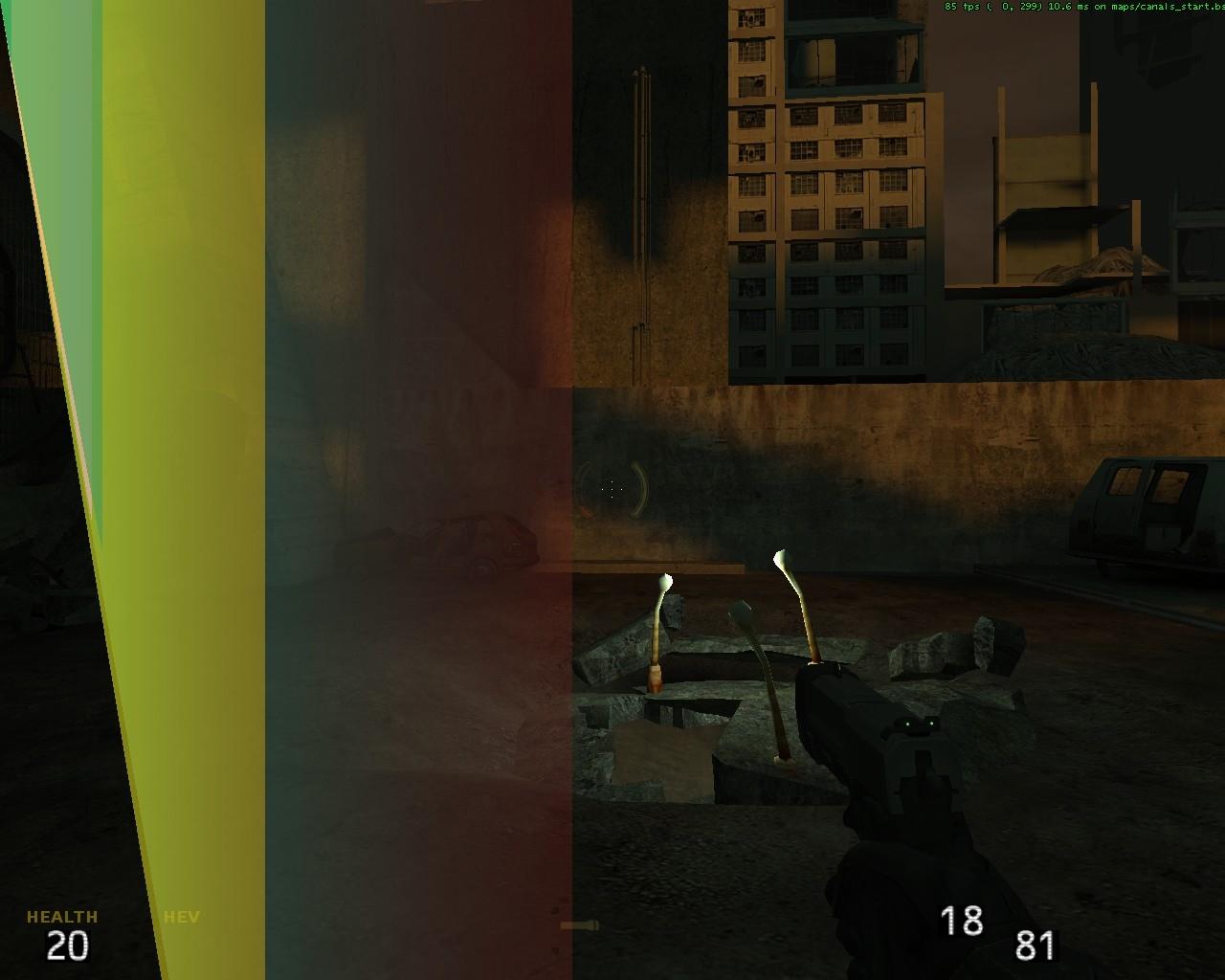 -dxlevel 70 (или 60) - Half-Life 2 Dark Interval