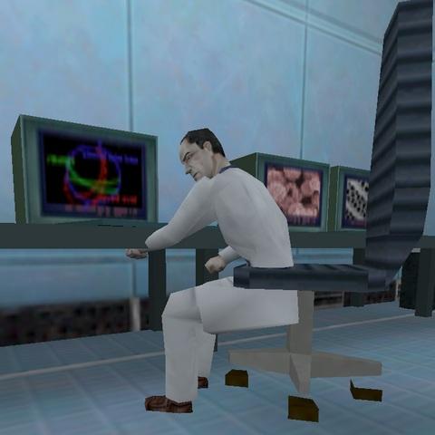 Вот как его на стул нормально посадить? :-/ - Half-Life