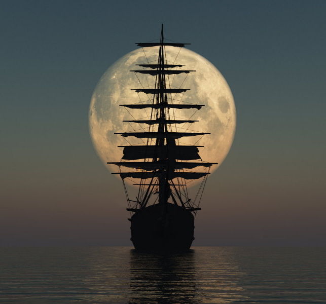 The ship in the Moon - -