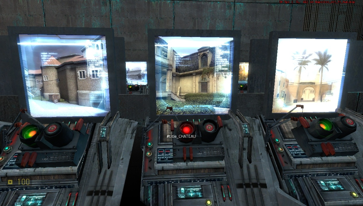 CSS Sci-Fi 3 - выбор карты - Half-Life 2 CSS SciFi