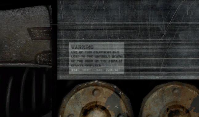 надпись на противогазе - Half-Life 2