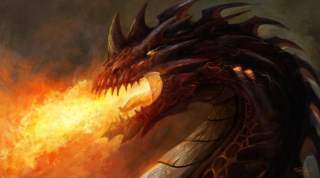 картинки огня из пасти дракона такой ментор зачем