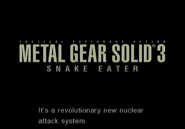 ... - Metal Gear Solid 3: Snake Eater