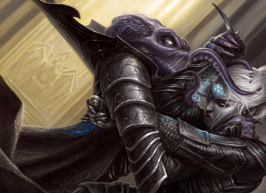 Drow vs Mind Flayer - Baldur's Gate 2: Shadows of Amn